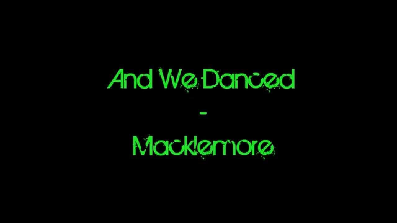 Macklemore and we danced youtube hexwebz Image collections