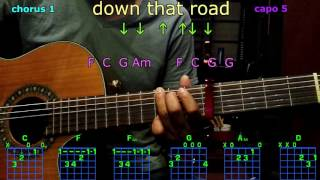 down that road alisan porter guitar chords