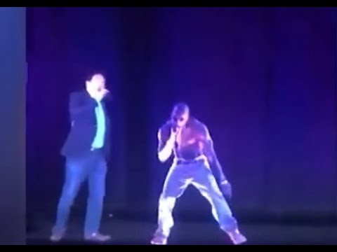 Andrew Yang Hologram with Tupac Hologram[7]