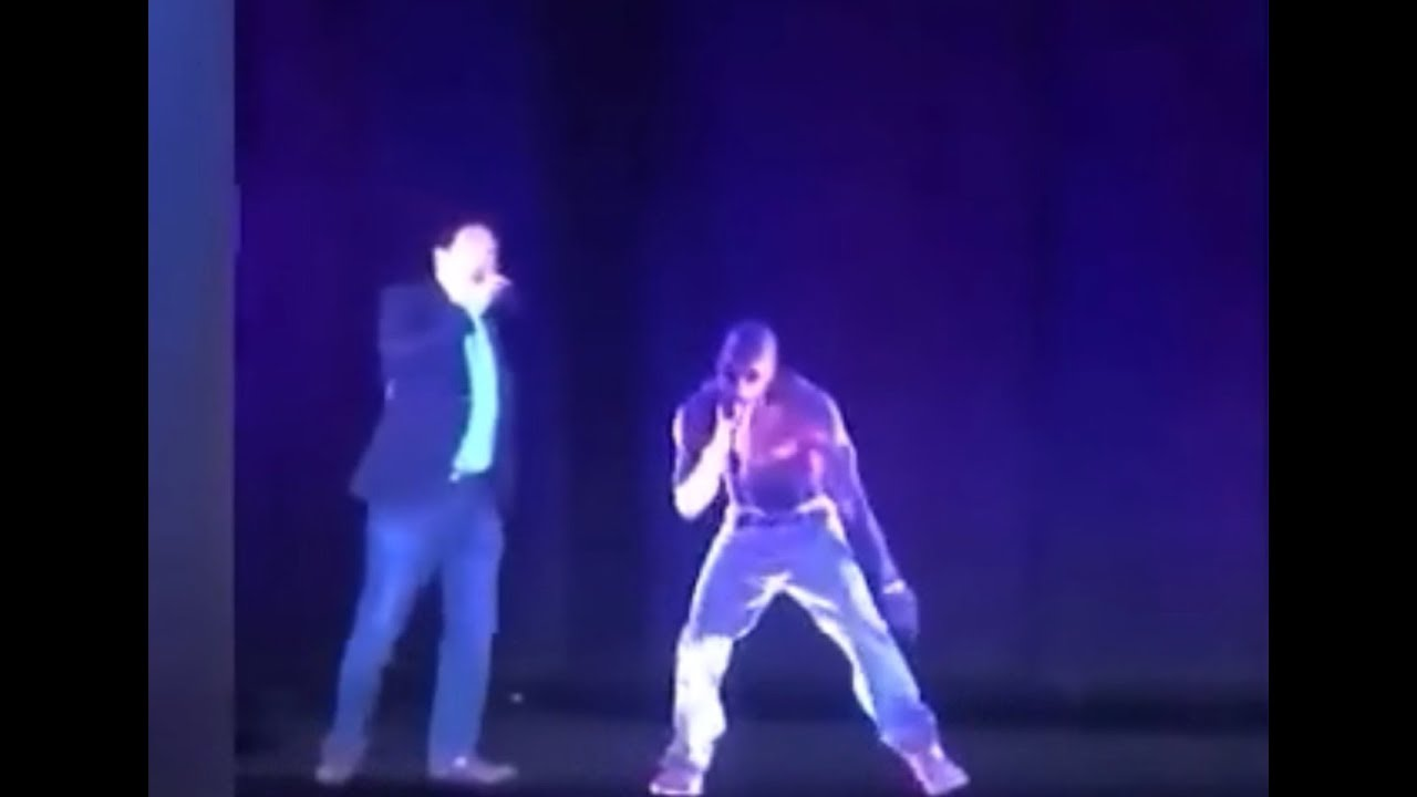 Andrew Yang Hologram with Tupac Hologram
