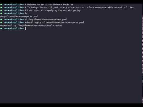 Kubernetes Network Policies Intro 101