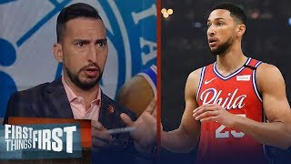 The 76ers' playoff chances are low, even if Simmons returns — Nick Wright | NBA | FIRST THINGS FIRST