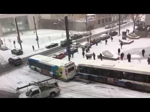 "Montreal ""First Snow"" of the year creates back to back accident"