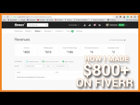 How I Made $800+ On Fiverr - Make Money On Fiverr