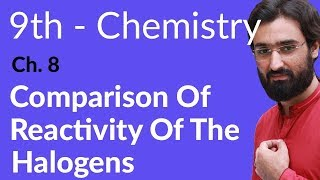 Comparison of Reactivity of the Halogens - Chemistry Chapter 8 Chemical Reactivity - 9th Class