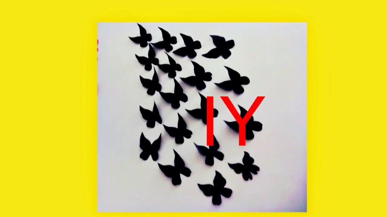 How to Make Paper Butterfly // Wall Decorations - YouTube