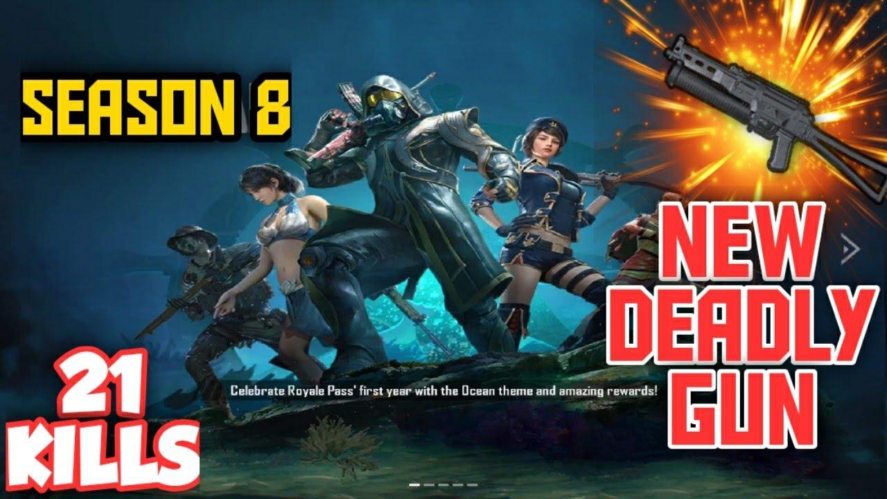 New Season 8 Rp And New Gun Bizon Pubg Mobile Youtube