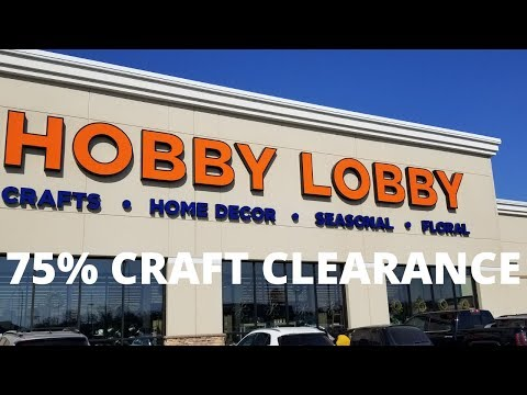 Hobby Lobby 75% Craft Clearance Sale-Lot's of Dies Super Cheap