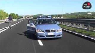 INSEGUIMENTO DELLA POLIZIA STRADALE IN A1 - ARRESTATO IL CONDUCENTE
