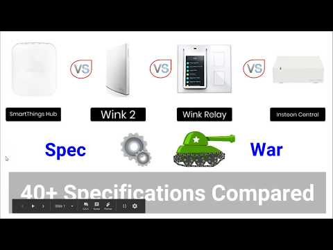 SmartThings vs Wink vs Wink Relay vs Insteon Central- Which