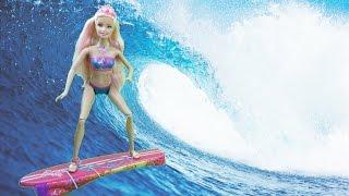 Кукла Барби русалочка и спортсменка серфинга / Barbie doll mermaid and athlete surfing