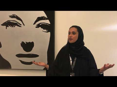 Alia Zaim Lootah Assistant Curator At Louvre Abu Dhabi Near A Martial Raysse Painting