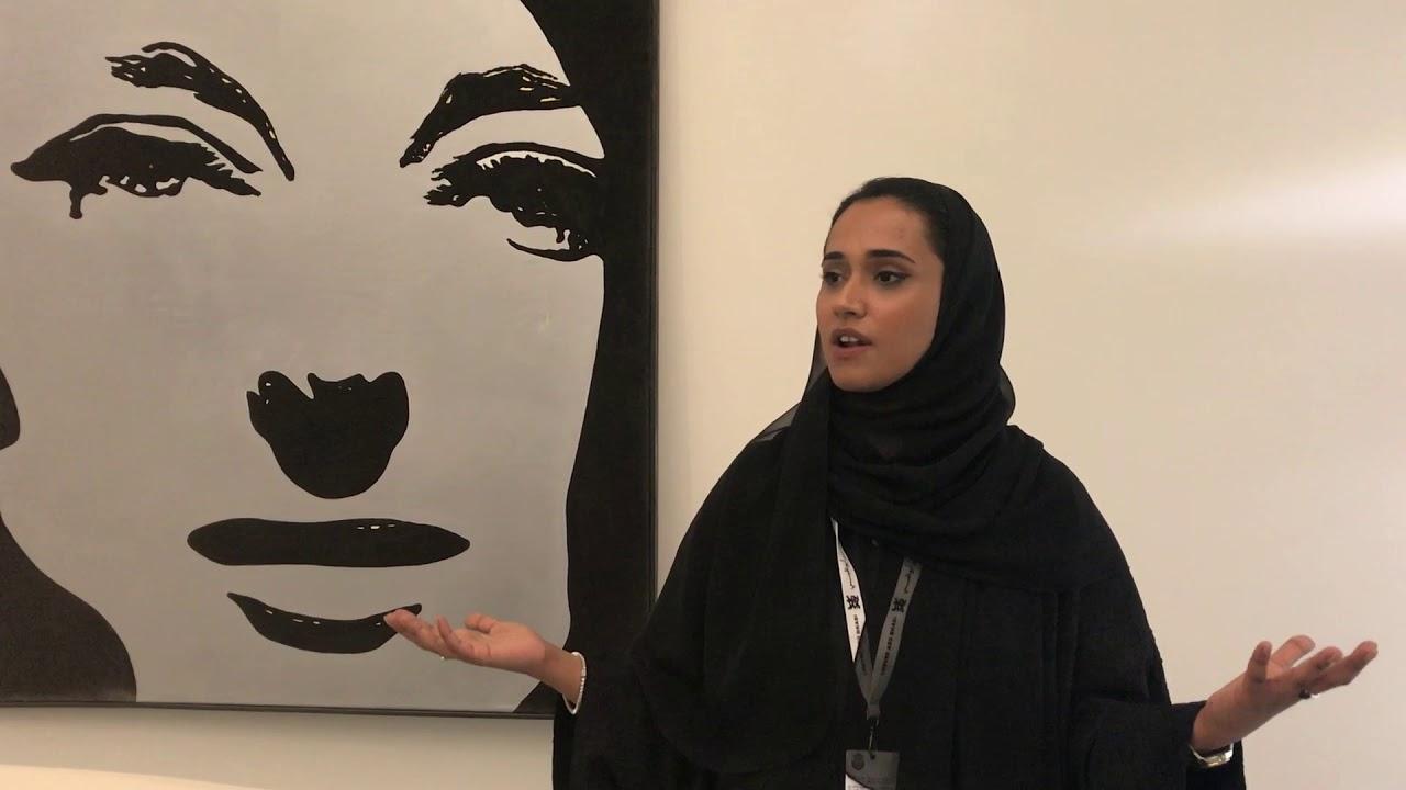 Préférence Alia Zaim Lootah assistant curator at Louvre Abu Dhabi near a  WQ53