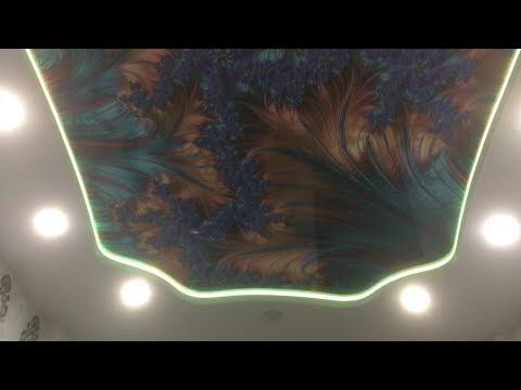 Необычная фотопечать на Натяжном потолке.Профиль карниз ПК5 .Калуга
