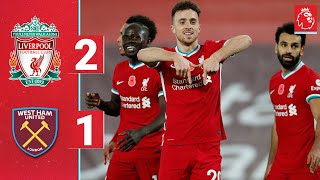 Highlights: LFC 2-1 West Ham | Salah and Jota win it at Anfield