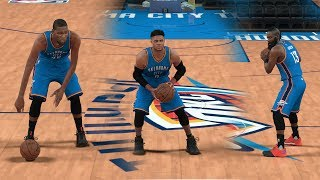 WHAT IF KEVIN DURANT AND JAMES HARDEN STILL PLAYED FOR THE THUNDER? NBA 2K17 GAMEPLAY!