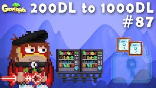 COLLECTING 260DLS FROM VENDING!! | 200DL to 1000DL #87 | Growtopia