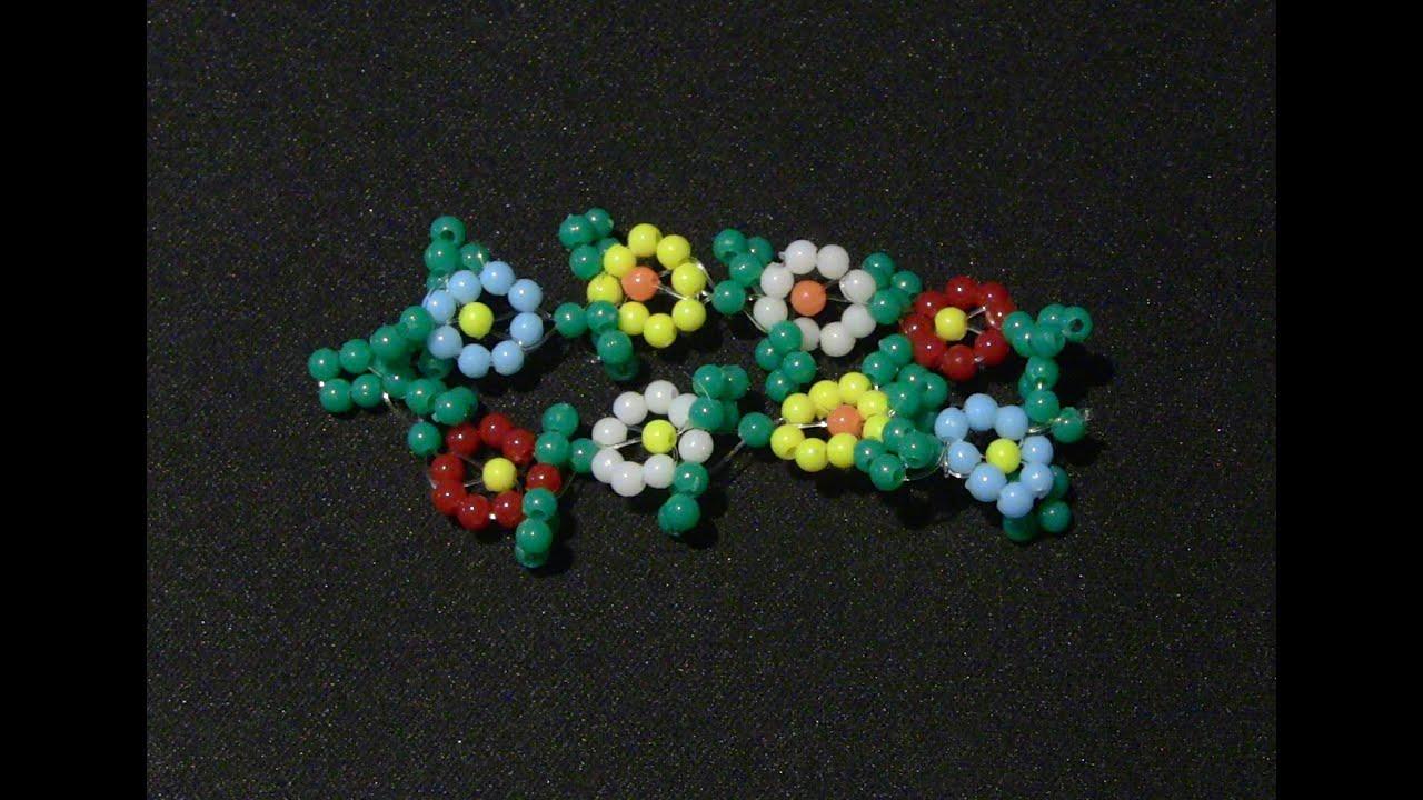 como fazer flores de mi anga para colar e pulseiras passo