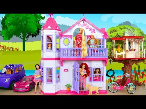 Steffi Love My Dream House for Barbie Sizes Dolls Neues Puppenhaus Maison de poupée بيت الدمية