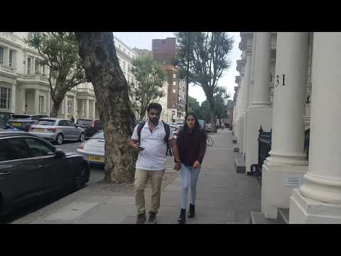 LONDON WALK --- From BAYSWATER Tube Station To LANCASTER GATE Station