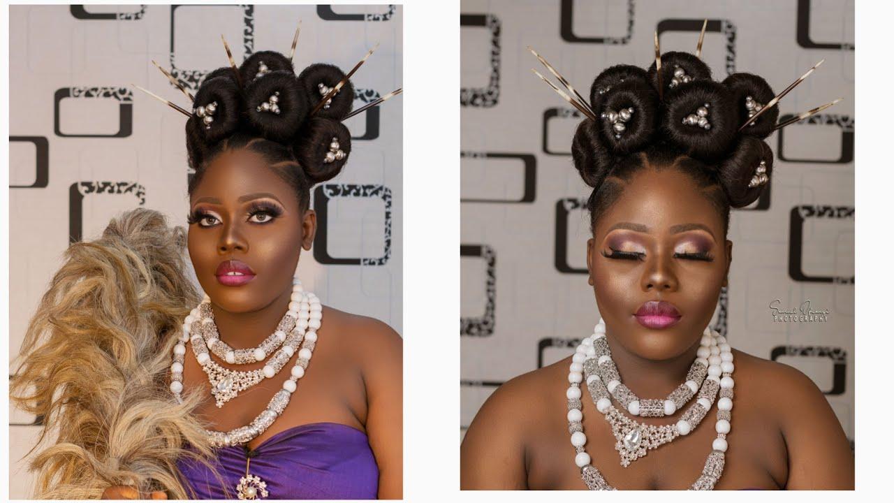 Nigerian Bridal Makeup Look Tutorial Igbo Traditional Bridal Look Youtube