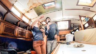 ⛵️The reality of buying an abandoned Sailboat (22 years on the hard) Made of Steel  #093