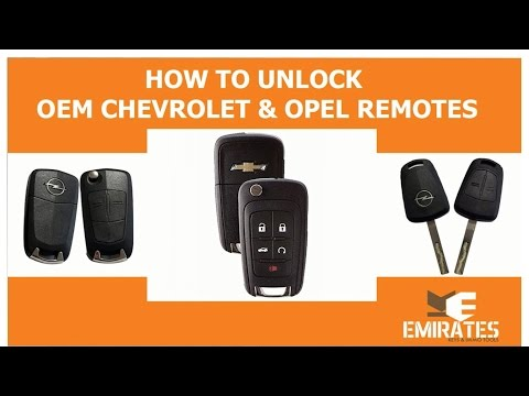 How to unlock Chevrolet & Opel OEM Remotes via MK3