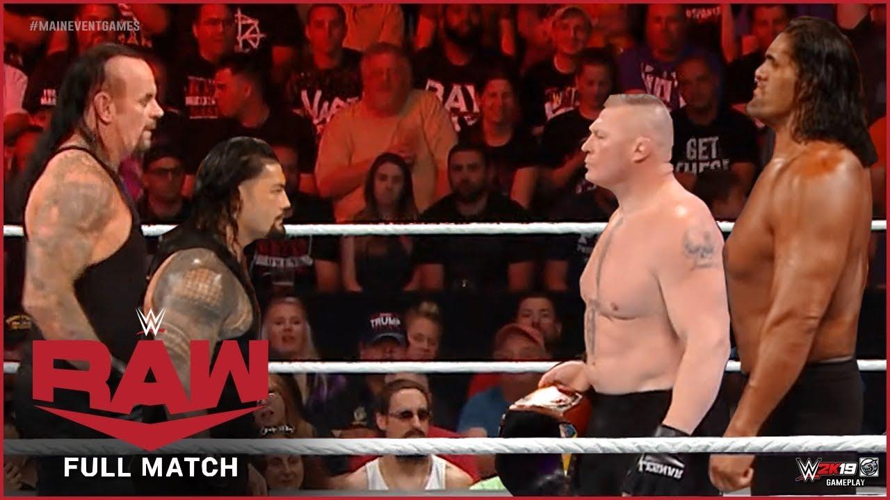Download Brock Lesnar & The Great Khali vs. Roman Reigns & The Undertaker : RAW, Nov 23, 2019
