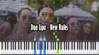 Dua Lipa - New Rules - Piano Tutorial - Synthesia With Realistic Piano Sound!