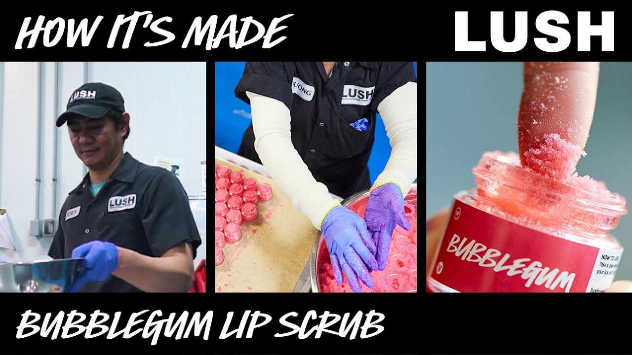 Lush How It's Made: Bubblegum Lip Scrub (2018)