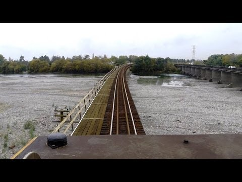 New Coastal Pacific Train 2014 - Part 1 -  from the Drivers Cab and Open Air Observation Carriage.