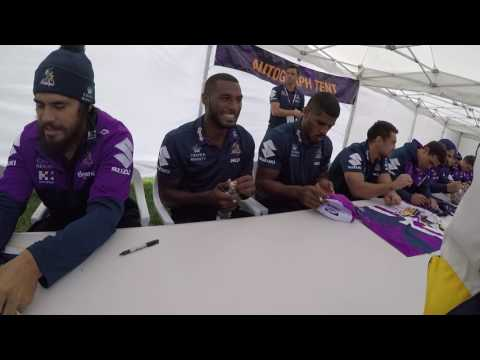 Melbourne Storm Family Day Signings 2017