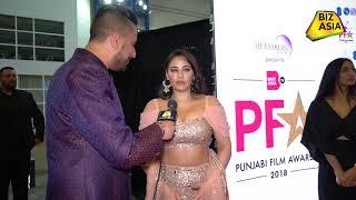 BizAsia meets British actress Mandy Takhar at the Punjabi Film Awards 2018