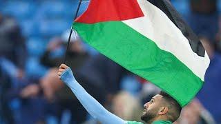 Riyadh Mahrez With Palestine Flag