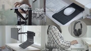 좁은 책상 120% 활용하는 데스크 셋업 (전선 정리부터 공중부양 모니터, 케이블 및 가방 수납공간까지)