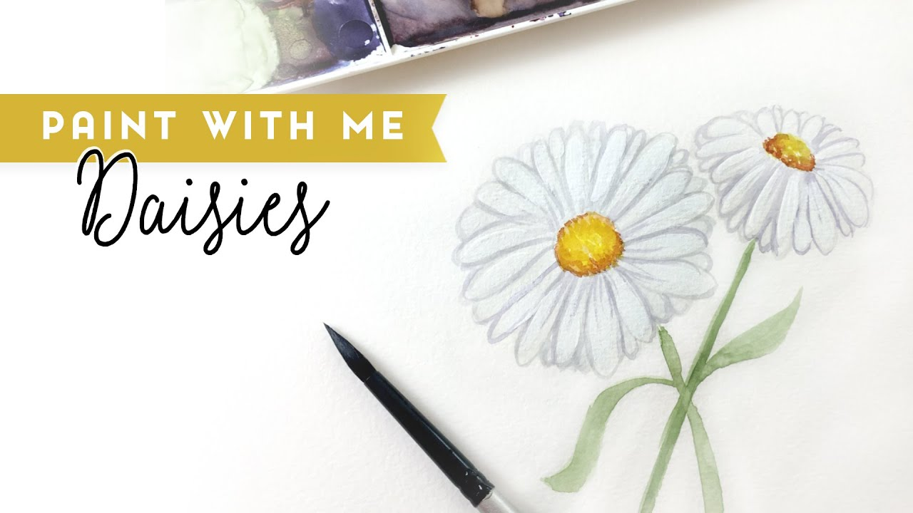 How to paint Watercolor Daisies - Paint with Me