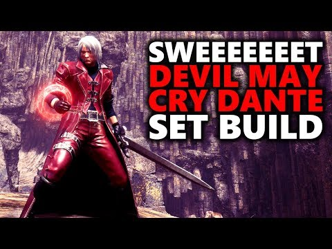 SWEEEEET DEVIL MAY CRY DANTE SET BUILD - Monster Hunter World
