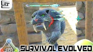 ARK: Survival Evolved - JESSIKEVINMOUTHHOLEFACE! E60 ( Sabertooth Taming Gameplay )