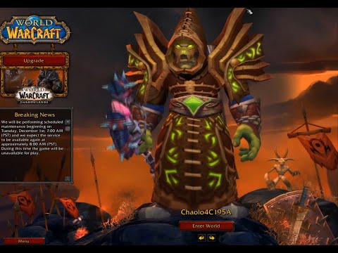 Logging Into World Of Warcraft For The First Time In 10 Years