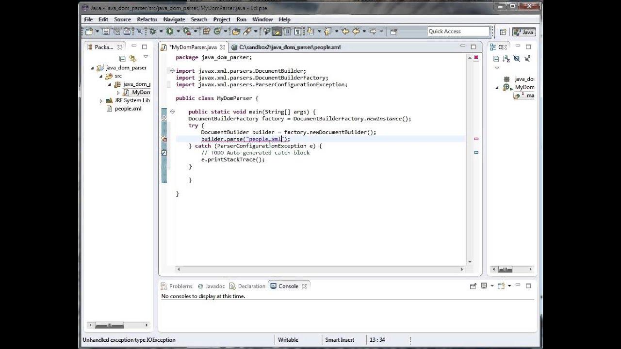 Java Online Training | Parsing XML using Java DOM Parser ...