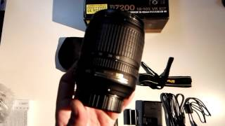 Unboxing brand new Nikon D7200 + 18-105mm VR
