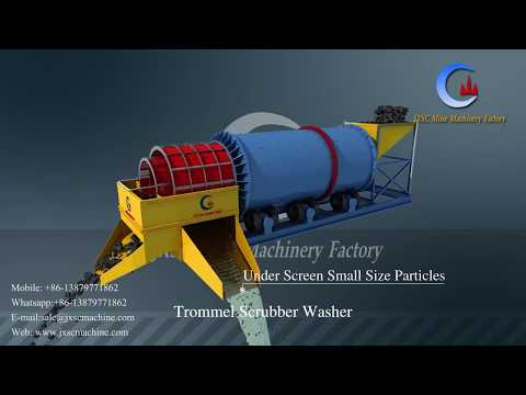 clay ore rotary trommel scrubber washing machine drum scrubber washer for gold washing plant