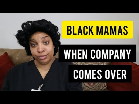 BLACK MAMAS WHEN KIDS HAVE COMPANY