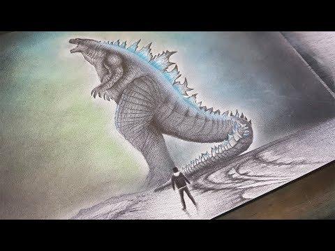 Dibujo De Godzilla 2019 King Of The Monsters A Lápiz Youtube