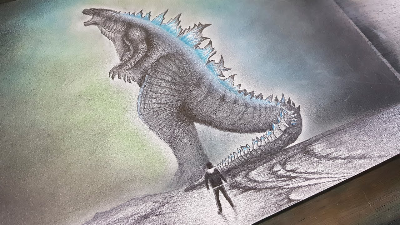 Dibujo De Godzilla 2019 King Of The Monsters A Lapiz Youtube