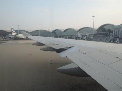 Orient Thai Airlines OX203 Take off & Landing (HKG-BKK)