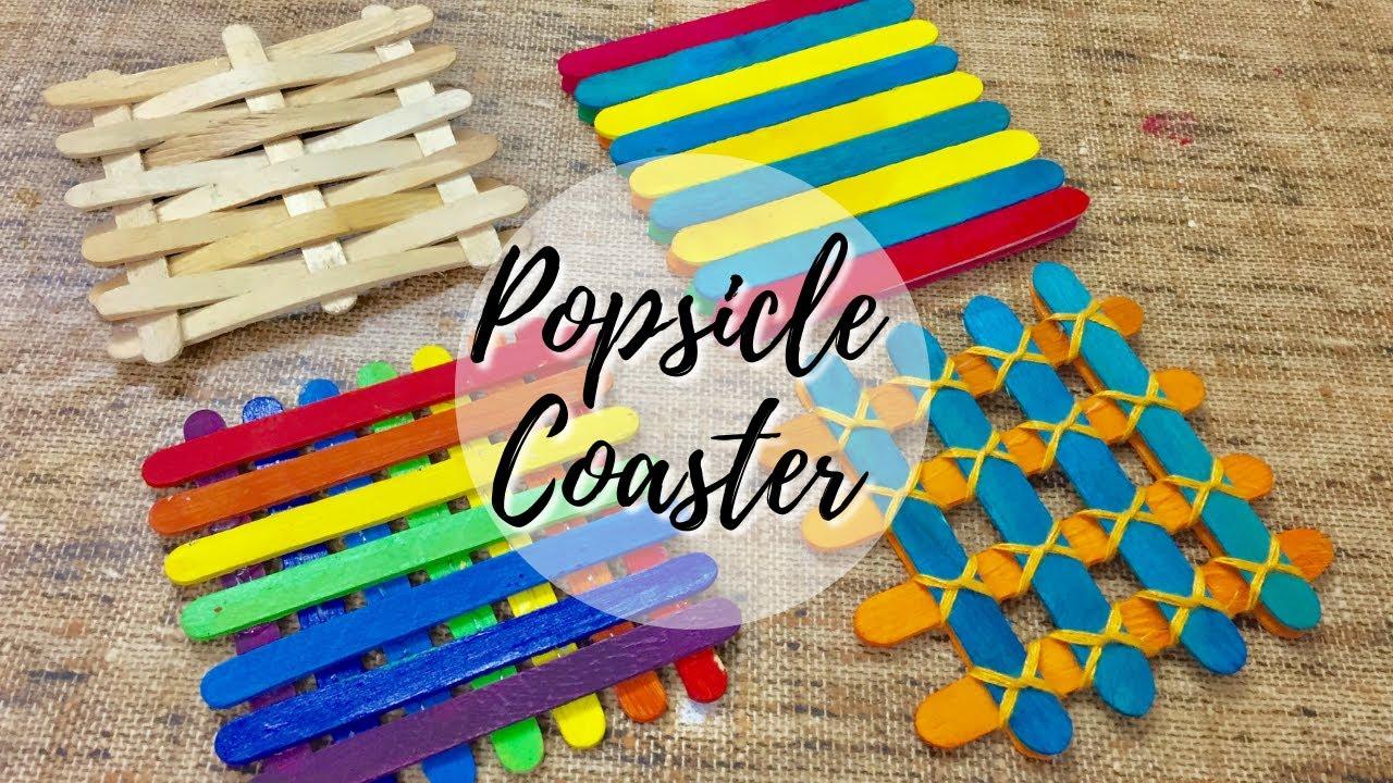 Ice cream sticks kids activity | Popsicle stick craft coasters  | Easy DIY with ice cream sticks