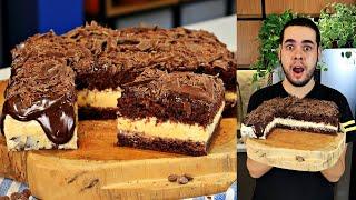 Bolo de Chocolate com Mousse de Maracujá na Travessa