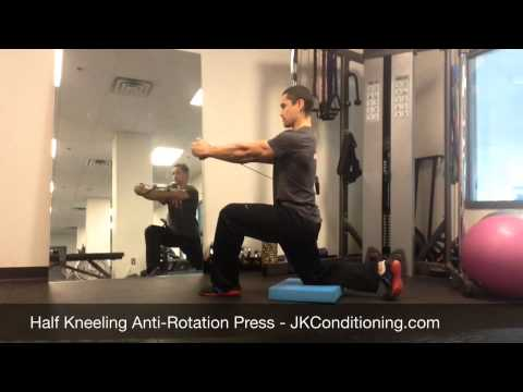 Half Kneeling Anti-Rotation Press