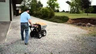 Technibay - Brouette Motorisée - Benne Basculante - Grande Capacité - Moteur Honda GXV-160